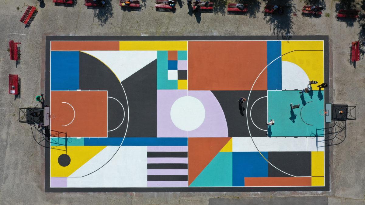 Tiber Courtyard – A Roma la nuova opera d'arte urbana firmata Greg Jager